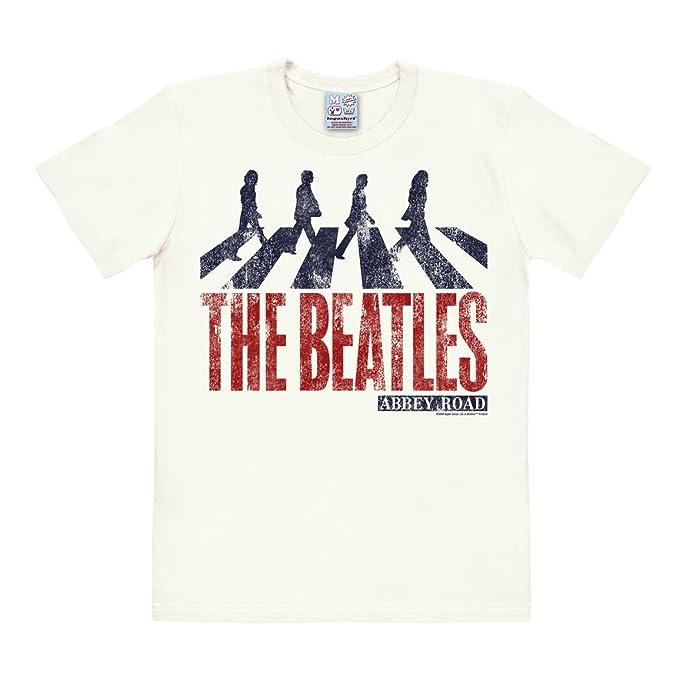 c447eb5f5 Logoshirt The Beatles - Abbey Road Vintage Camiseta Easyfit - Blanco  Antiguo - Diseño original con licencia