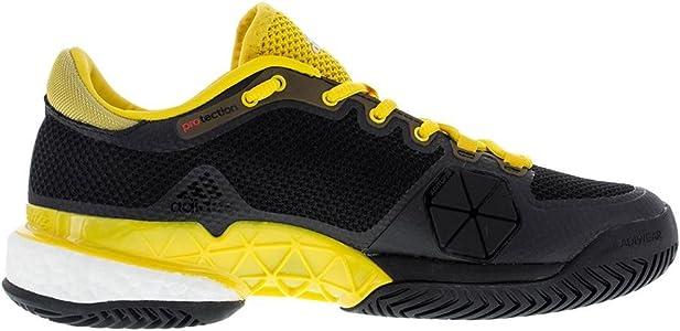Adidas Mens Barricade Boost Tennis Shoes Glow Orange