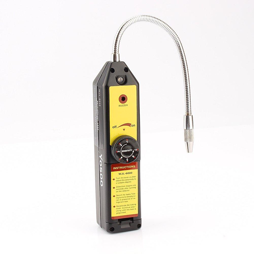 Yosoo Halogen gas Freon CFC HFC Refrigerant Leak Detector HVAC R134a R410a R22a hld-100+