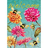 Cheap Bumblebees in the Garden – Standard Size, Decorative Double Sided, Licensed and Copyrighted Flag – Printed IN USA by Custom Decor Inc. 28 Inch X 40 Inch approx.