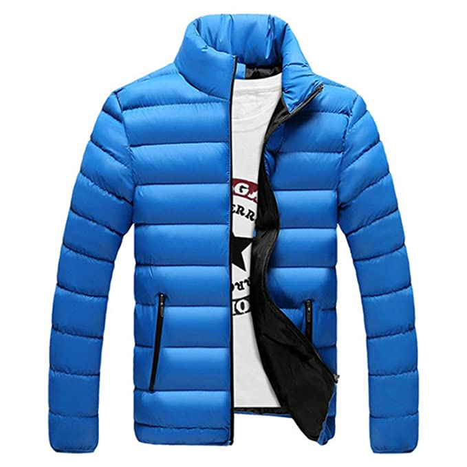 Jacket Men Warm Coat Black Outwear Chaquetas Plumas Hombre Winter Mens Coats Jackets at Amazon Mens Clothing store: