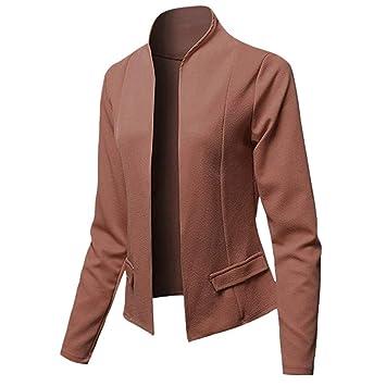 Le donne giacca vintage marrone giacca taglia SM Blazer e