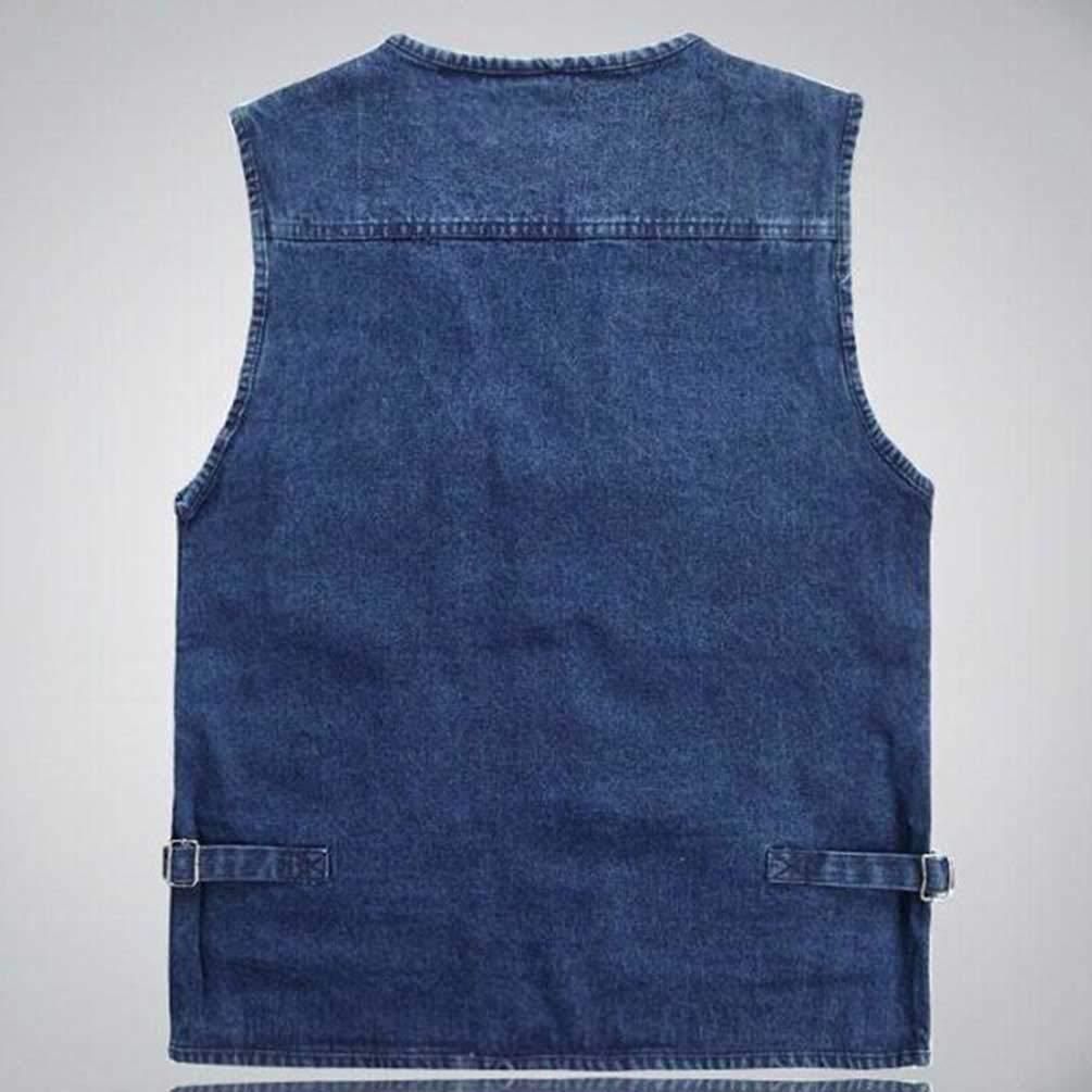 Guiran Uomo Gilet Jeans Multitasche Dimensioni per Caccia Pesca Fotografi Smanicato Vest Gilet Uomo Outdoor