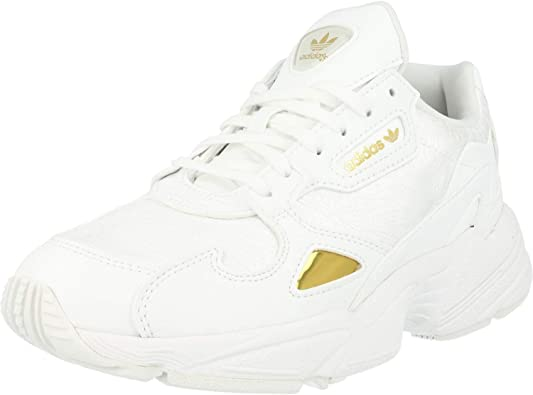 complejidad embudo Sarabo árabe  Amazon.com | adidas Originals Falcon W White/Gold Metallic Synthetic Adult  Trainers Shoes | Shoes