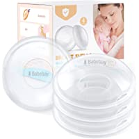 Breast Shells, 4 Pack Nursing Cups, Milk Saver, Protect Sore Nipples for Breastfeeding, Collect Breastmilk Leaks for…