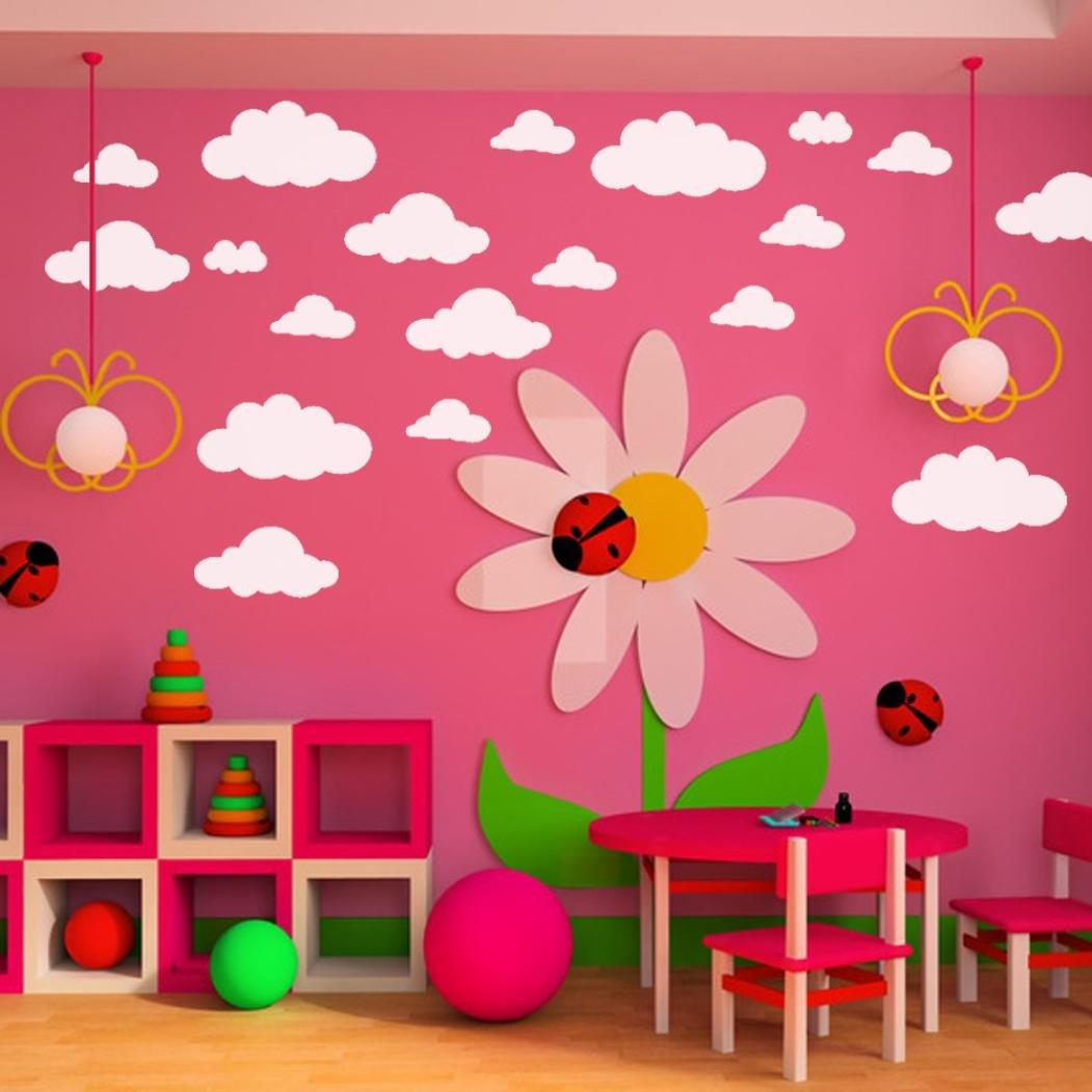 Amazon.com: vacally 31pcs calcomanía de pared papel pintado ...