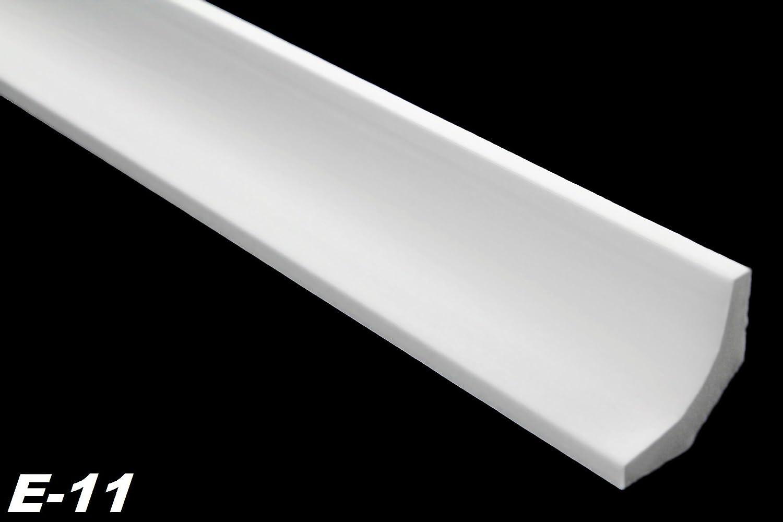 30 Meter + 4 Ecken Dekorprofile Stuckleisten Stuck Innen hart 35x35mm, E-11 Marbet Design