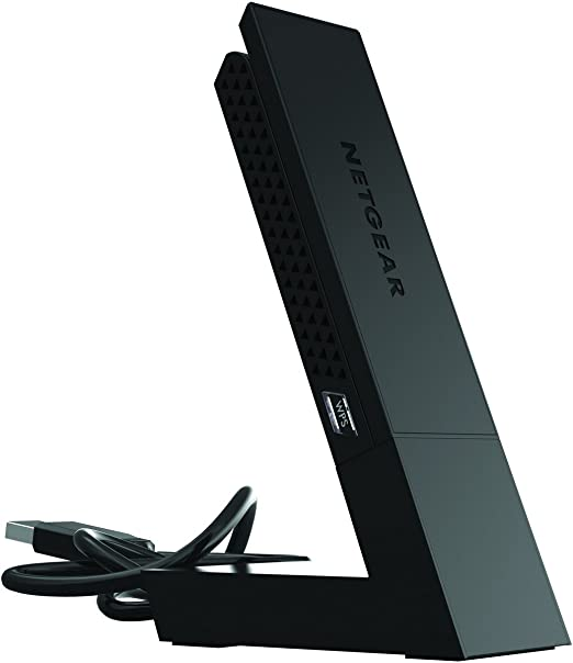 Netgear A6210-100PES - Adaptador de Red inalámbrico USB de Banda Dual con tecnología WiFi (AC 1200 Mbps -2.4 GHz y 5 GHz, WPS, USB2.0/3.0), Negro