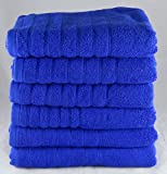 The House Of Emily Pack Of 3 525 Gsm 100% Egyptian Cotton / Towels 90cm X 150cm Bath Sheet Blue