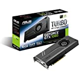 ASUS Geforce GTX 1060 6GB Turbo Edition VR Ready Dual HDMI 2.0 DP 1.4 Auto-Extreme Graphics Card (TURBO-GTX1060-6G)
