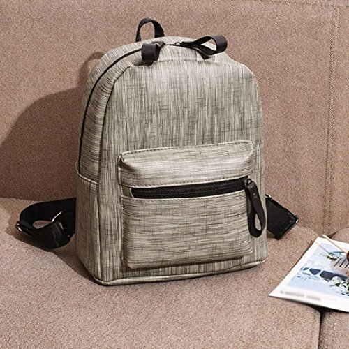 Gray Purse Bags Casual Girls Inkach by Daypacks Backpack Teen Shoulder for Women Leather and Mini Uq65x