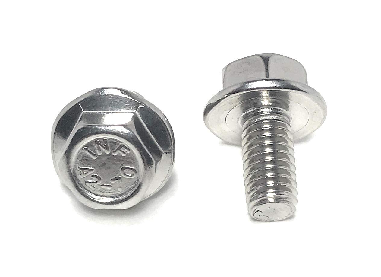 M6-1.00 x 12 Stainless Steel Flange Bolt DIN 6921 A2 Stainless Steel 25 Pieces M6x12