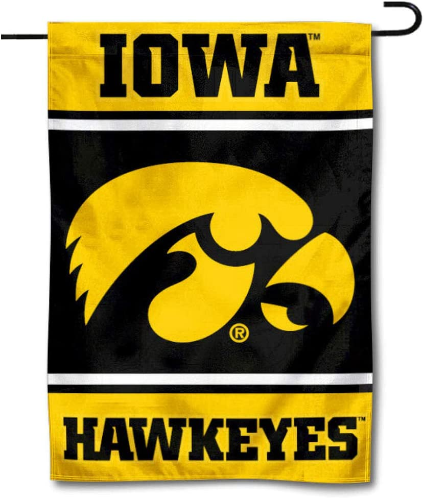 College Flags & Banners Co. Iowa Hawkeyes Garden Flag