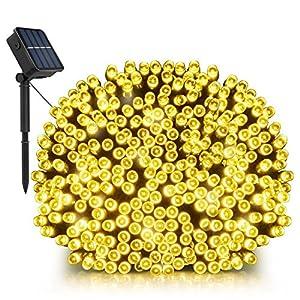 Solar String Lights, LDesign 72ft 200 LED Bright Solar Decorative Romantic Powered Starry Fairy Lights Waterproof(IP68…