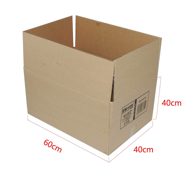Cajas de Cartón, Cajas de Mudanza y Envíos Postales Pack de 12, Alta Calidad, Resistente-Color Marrón (60x40x40cm): Amazon.es: Oficina y papelería
