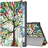 "TiMOVO All-New Fire HD 10 2017 Case (7th Generation, 2017 Release) - Ultra Lightweight Slim Shell Stand Cover with Auto Wake/Sleep Function for Amazon Fire HD 10 Tablet 10.1"", Lucky Tree"