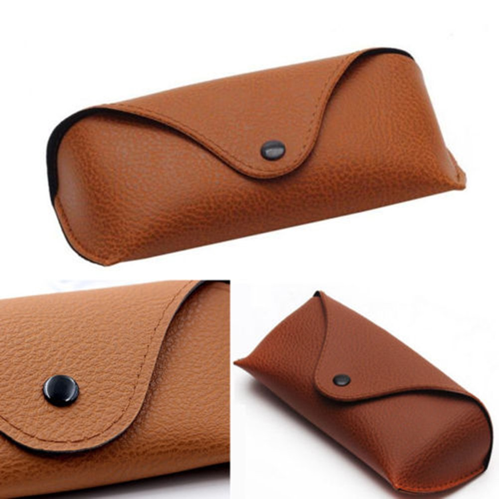 Academyus Unisex Faux Leather Eye Glasses Case Portable Sunglasses Holder Box (Brown) by Academyus (Image #3)