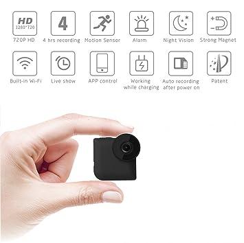 M3M Cámara Oculta Espía 1080P Mini Cámara De Seguridad WiFi Remotamente Cámara De Niñera con Detección