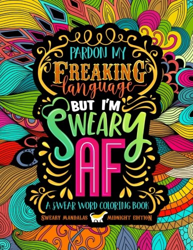 Swear Word Coloring Book Midnight product image