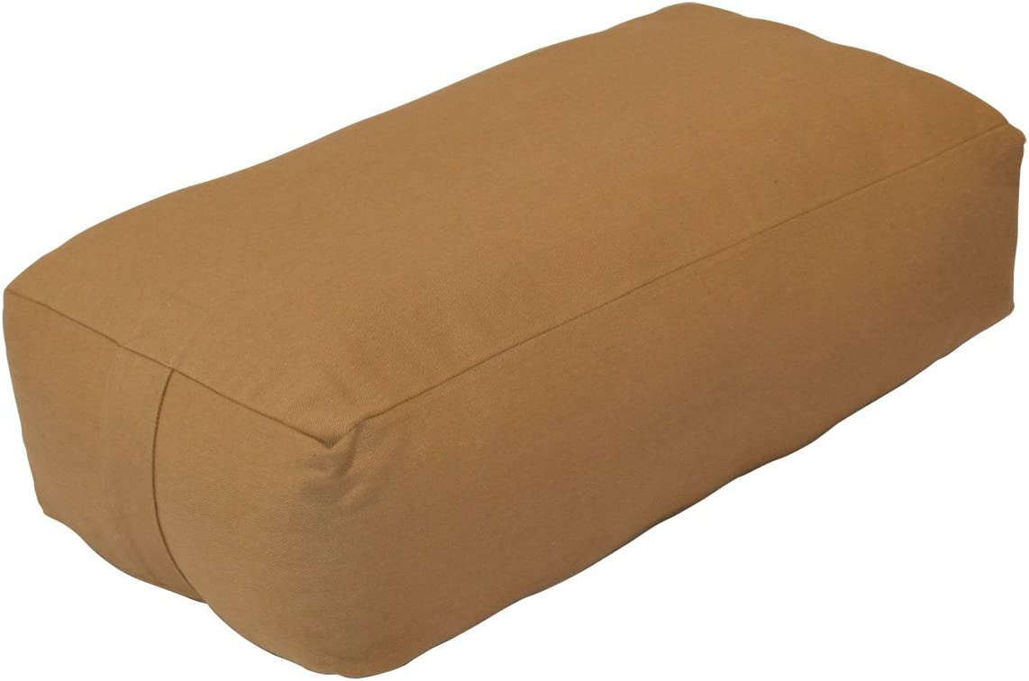 YogaDirect Supportive Rectangular Cotton Yoga Bolster, Russet : Yoga Foam Wedges : Sports & Outdoors