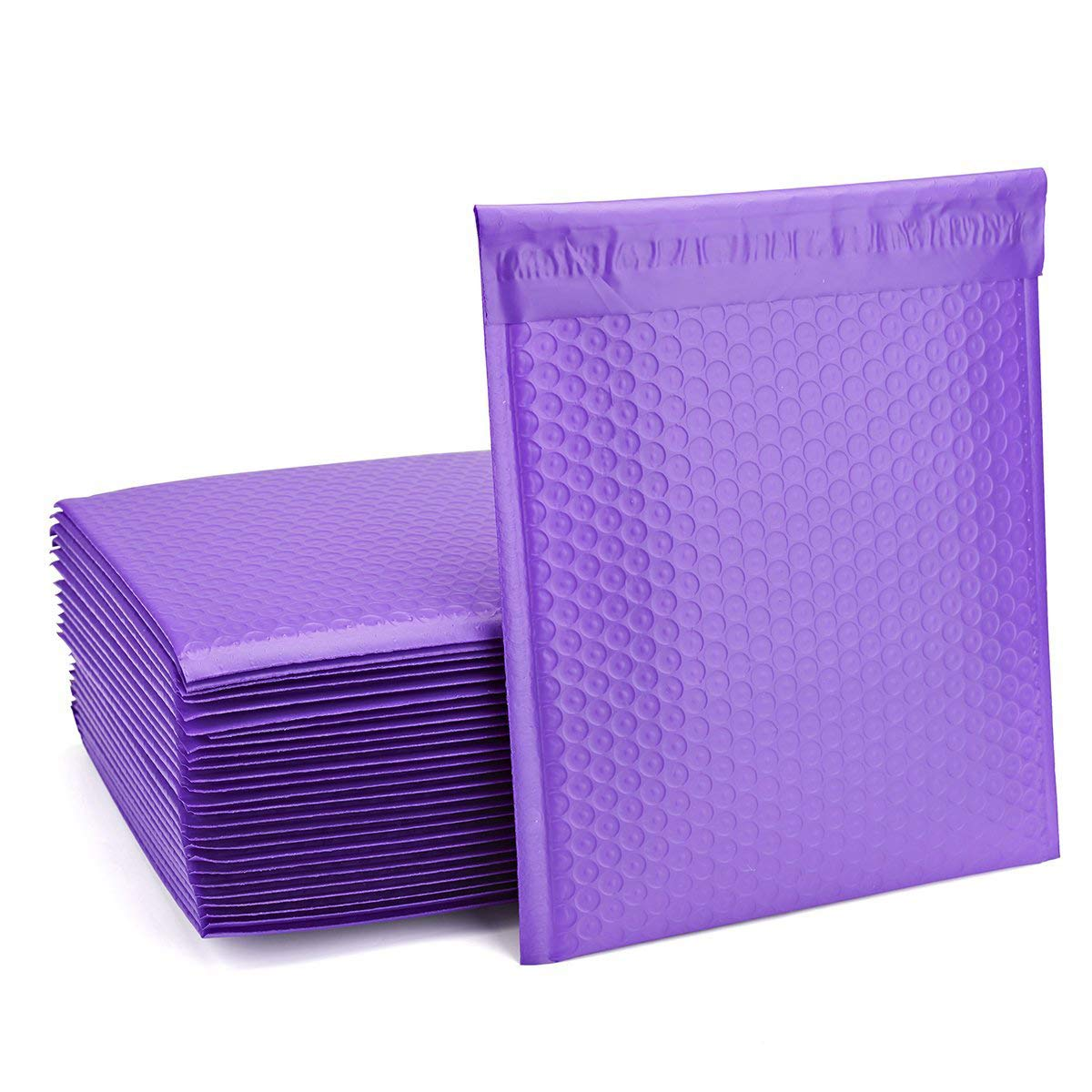 FU Global Purple Bubble Mailers 8.5x12 Inch #2 Padded Envelopes Pack of 25 (Purple, 8.5x12)