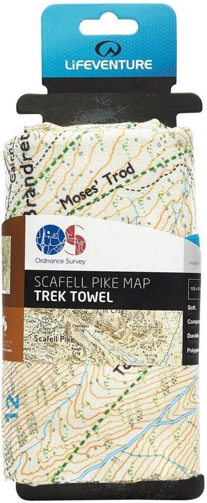 Lifeventure Unisexs SoftFibre OS Map Towel