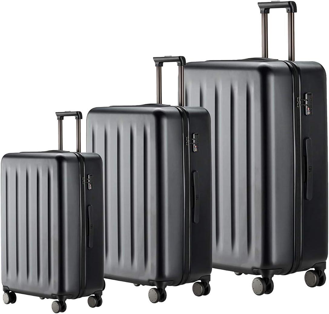 Luggage Sets 20 24 28 Inch , 100 Polycarbonate Spinner Wheel Hardside Luggage, NINETYGO Lightweight Hardshell TSA Compliant Suitcase