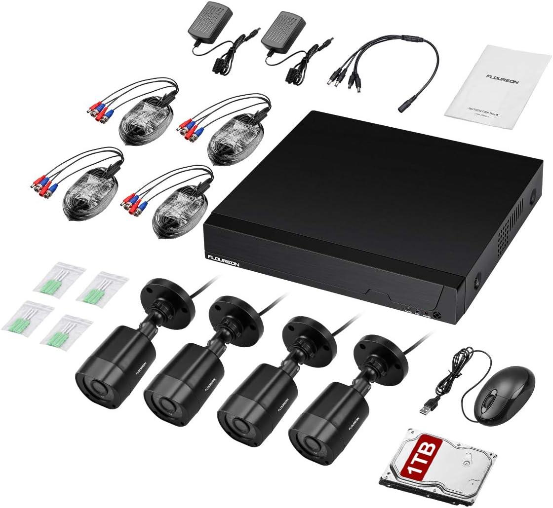 FLOUREON 1080P HD 3000TVL /Überwachungskamera 2,0MP 940nm Au/ßenkamera Zusatzkamera Unsichtbares IR-Nachsicht Wasserdicht f/ür CCTV AHD DVR /Überwachungssystem