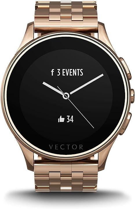Vector L1-10-014 Luna - Smartwatch, color rosa dorado: Amazon.es ...