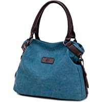 Women's Shoulder Bag, Popoti Handbag Tote Purse Multifunction Sling Bag Tote School Backpack Messenger Crossbody for Travel Daily