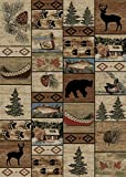 Rug Empire Rustic Lodge River Run Cabin 5X7 Area Rug, 5'3×7'3 Review