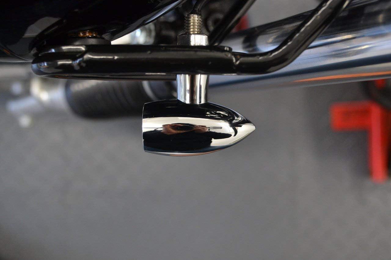 Chrome pour Personnalis/é Motos /& R/étro Cafe Racers Moto Mini Clignotant LED et Course Feux 2 Paires