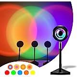 Luz do pôr do sol RGB LVOD, projeção da lâmpada do pôr do sol Projetor da luz do sol, luz noturna luz ambiente visual românti