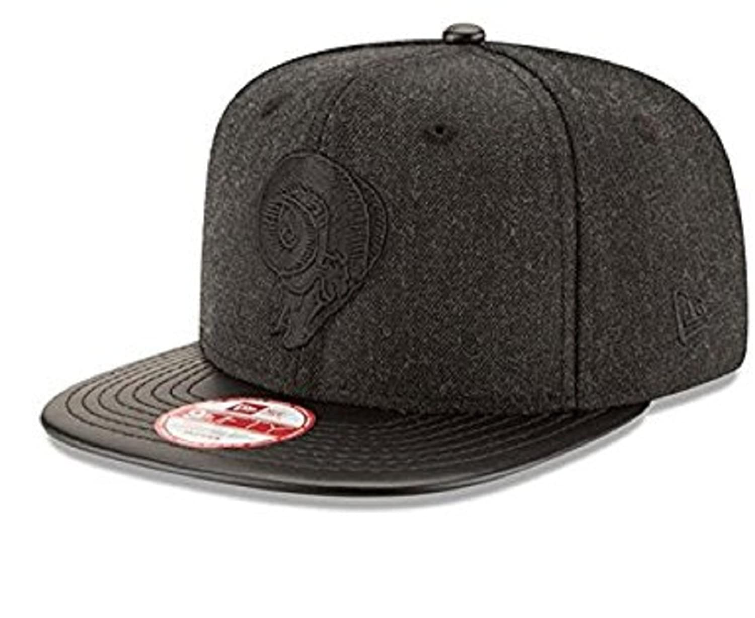 100% Authentic NWT, Rams All Black Hat SnapBack Cap