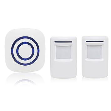 Alarma de seguridad, Domowin Timbre de Alarma Detector de presencia Port¨¢til impermeable