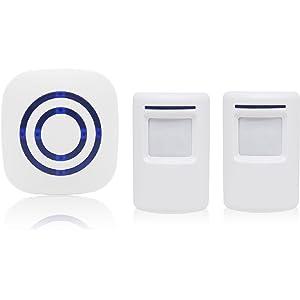 Alarma de seguridad, Domowin Timbre de Alarma Detector de presencia Portátil impermeable Avisador de Puerta