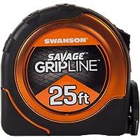 Swanson Tool SVGL25M1 25-Feet Magnetic Savage Grip Line Tape Measure