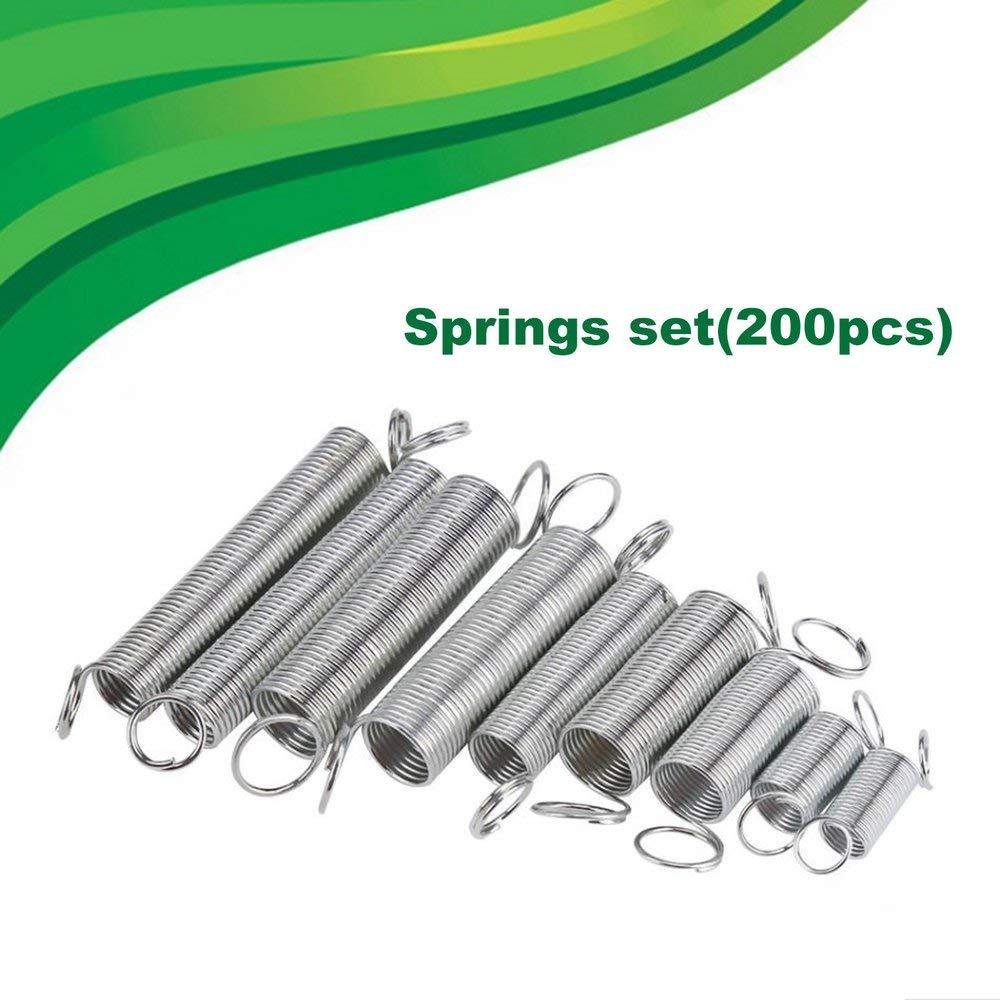 200Pcs Steel Spring Electrical Hardware Extension Tension Pressure Springs Set