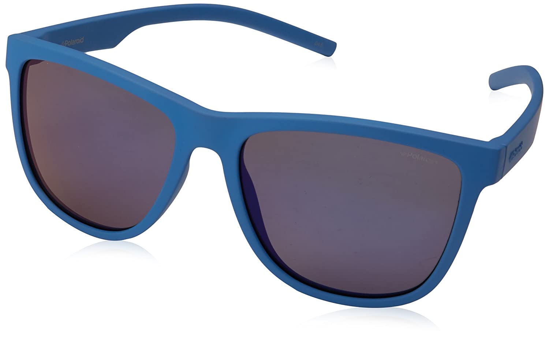 acb6e634d10f Amazon.com: Polaroid Sunglasses Pld6014s Polarized Square Sunglasses, Blue,  56 mm: Clothing