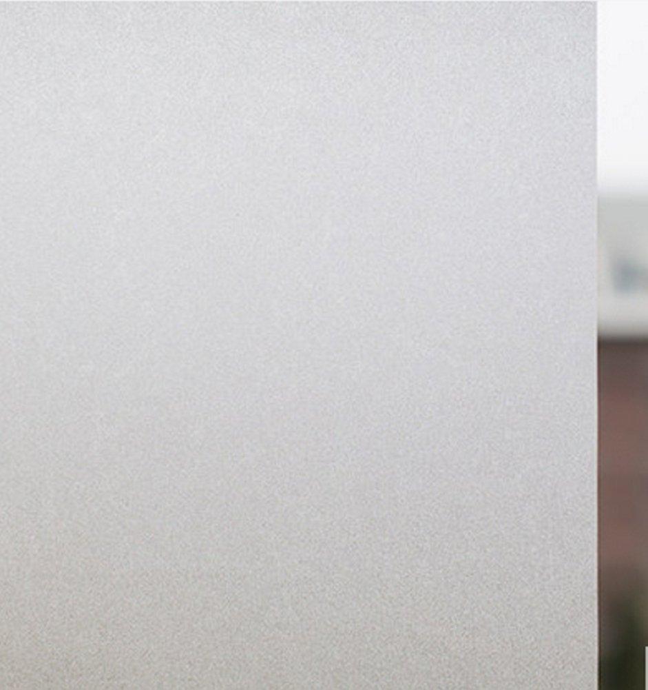MVPOWER Pellicola Privacy Pellicola Smerigliata Per Finestre Vetro, Statica, Anti-UV e Autoadesiva, Adesivo Protezione Privacy Per Ufficio Bagno Soggiorno Camera da Letto (90x200cm)