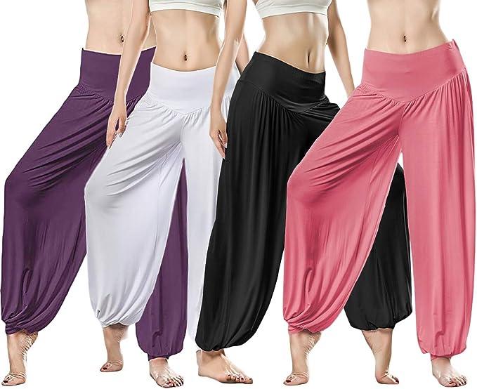 KSUA Womens Soft Modal Yoga Pants Long Baggy Sports Dance Harem Pants Loose Yoga Bloomers Pilates Pants