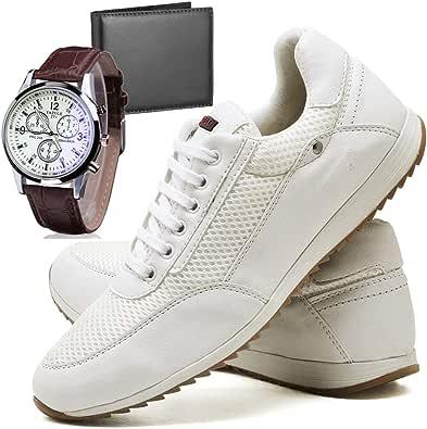 Sapatênis Sapato Casual Com Relógio e Carteira Masculino JUILLI R1100DB