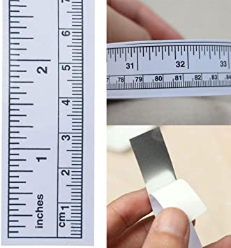 """US 36/"""" White Self Adhesive Metric Measure Tape Ruler Sticker for Sewing Machine"""