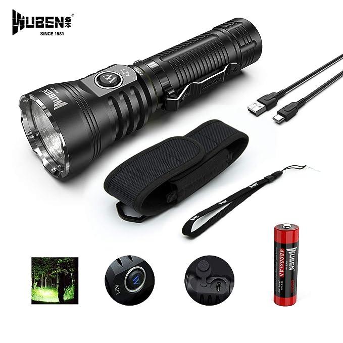WUBEN A21 Taschenlampe LED Taschenlampe 4200 Lumen Super Helle CREE XHP70 LED Typ-C Schnelle Wiederaufladbare, mit Li-Ion Akk