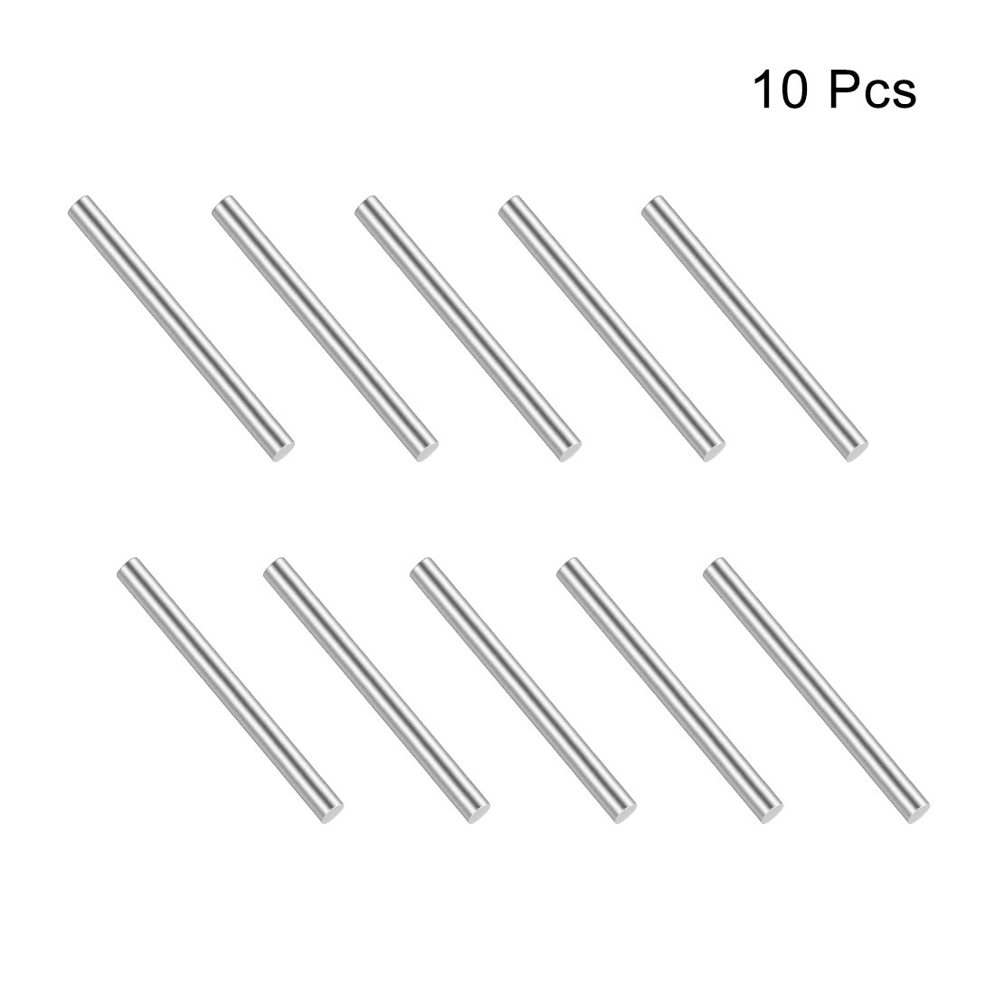 sourcing map Stainless Steel Solid Round Rods Metal Lathe Bar Stock for DIY Craft 50mmx2mm 10pcs