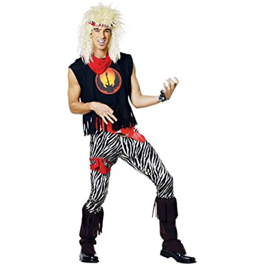 adult 80s rock band halloween costume size standard 44 - 80s Rocker Halloween Costume