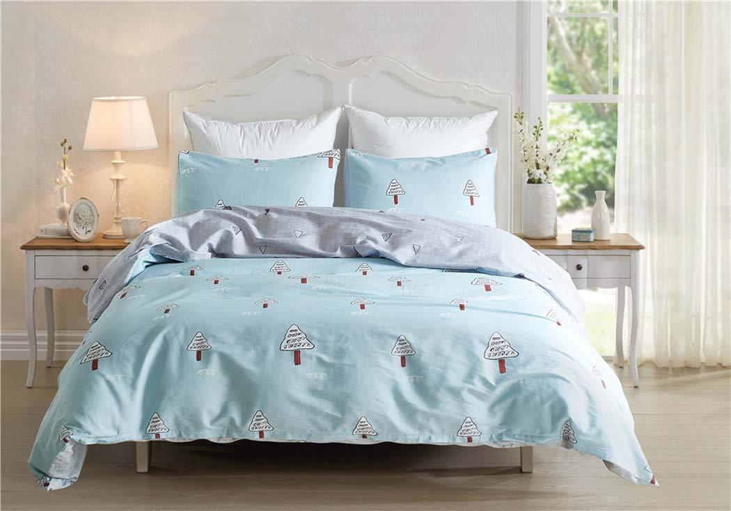 布団カバーベッドセット枕寝具セット枕,Blue,King King Blue B07GV95MC2