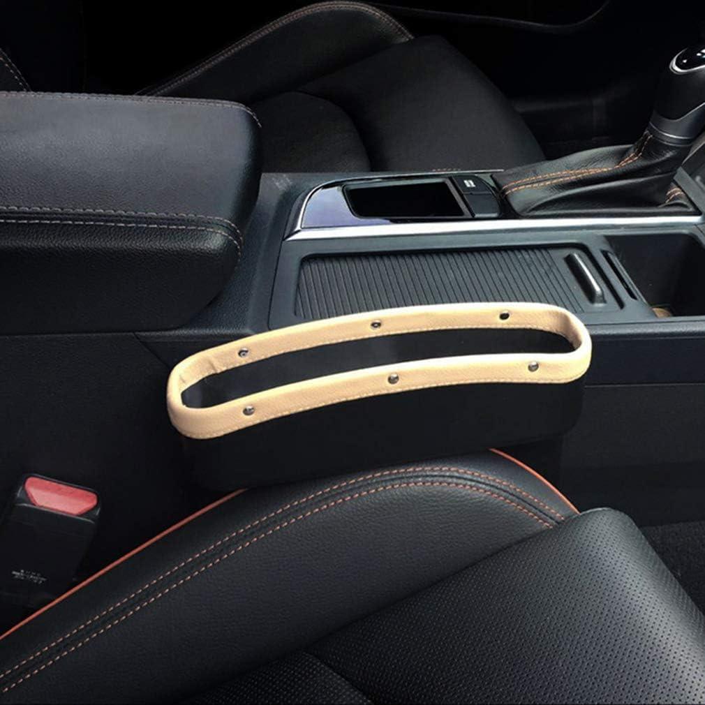 Black EZEYU TLitdr Car Seat Gap Filler Organizer,12 Pack PU Car Gap Filler Non-Slip Organizer with 2 Non-Slip Mat Multi-Functional Storage Box for Cellphone Wallet Coin Key