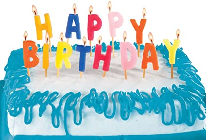 Image Unavailable Not Available For Color DCI Happy Birthday Candles