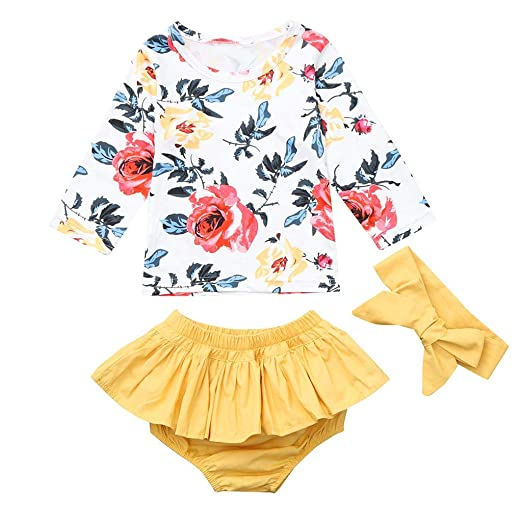 4c6160f31 Amazon.com: Fartido Romper Baby Girl Off Shoulder Pineapple Print Lace  Jumpsuit Outfits: Clothing